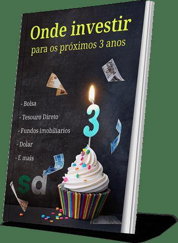 imagem de livro com a capa do ebook onde investir para os próximo 3 anos