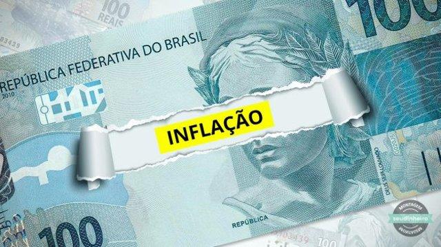 Nota 100 Reais Rasgada Inflação IPCA