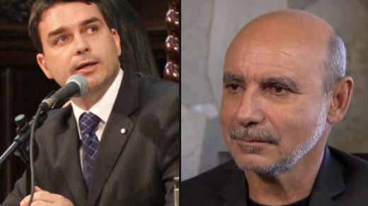 Flavio Bolsonaro e Fabrício Queiroz