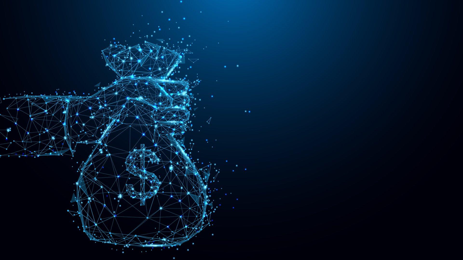 Imagem mostra pontos que formam saco de dinheiro