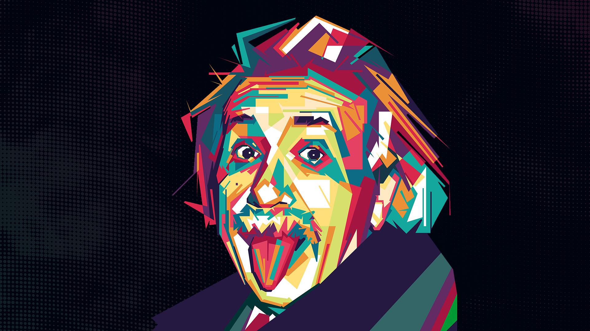 Ilustração do Albert Einstein