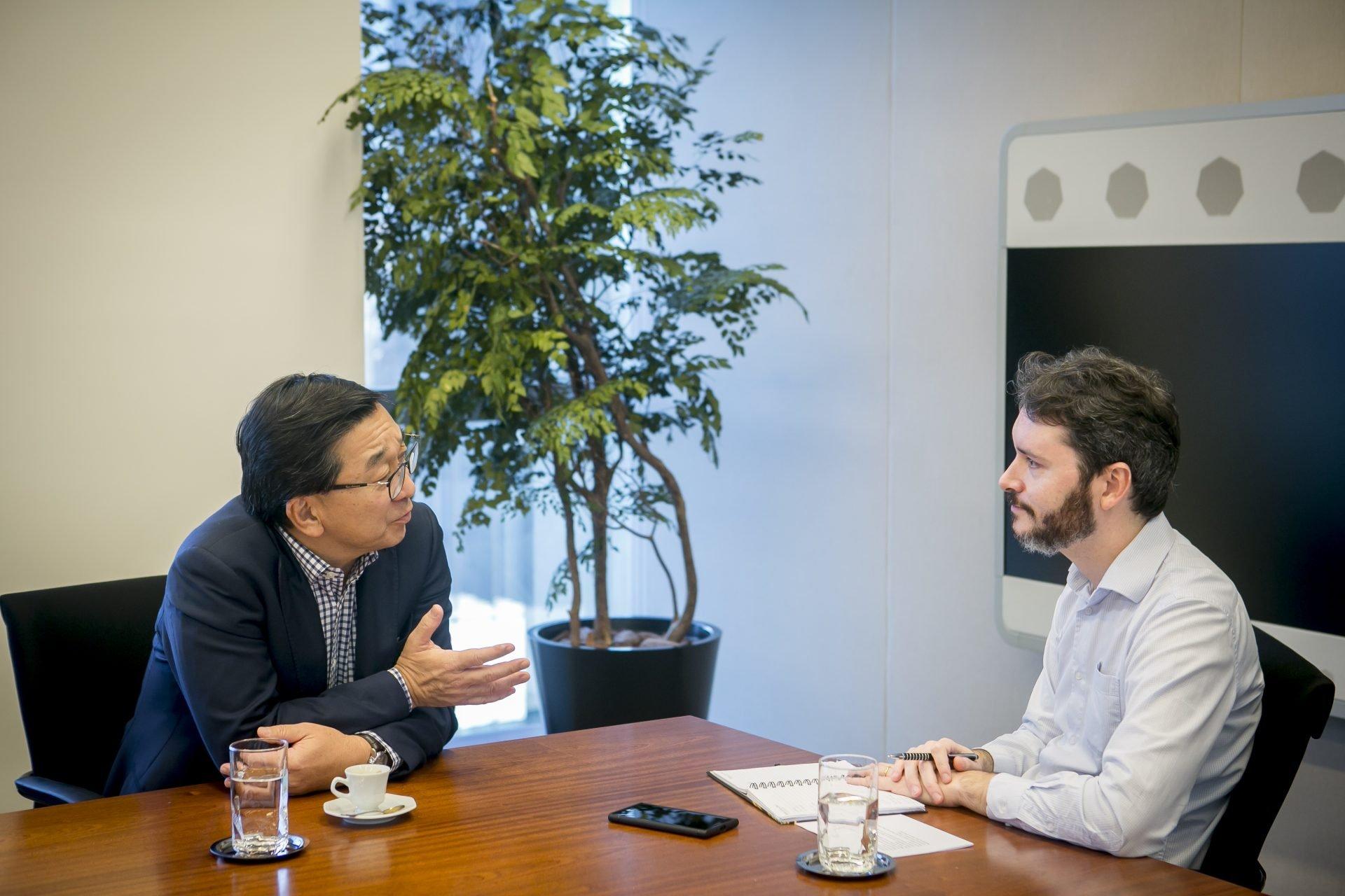 Carlos Takahashi, presidente da BlackRock no Brasil e Vinícius Pinheiro