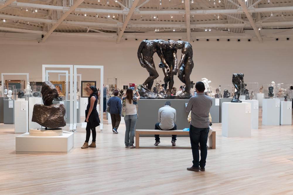 Seção do escultor Auguste Rodin no Museo Soumaya, no México, que pertence à Fundação Carlos Slim