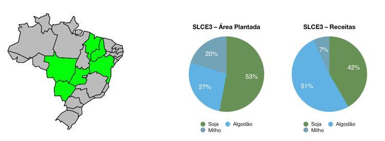 Infográfico mostra área plantada e receitas da SLC