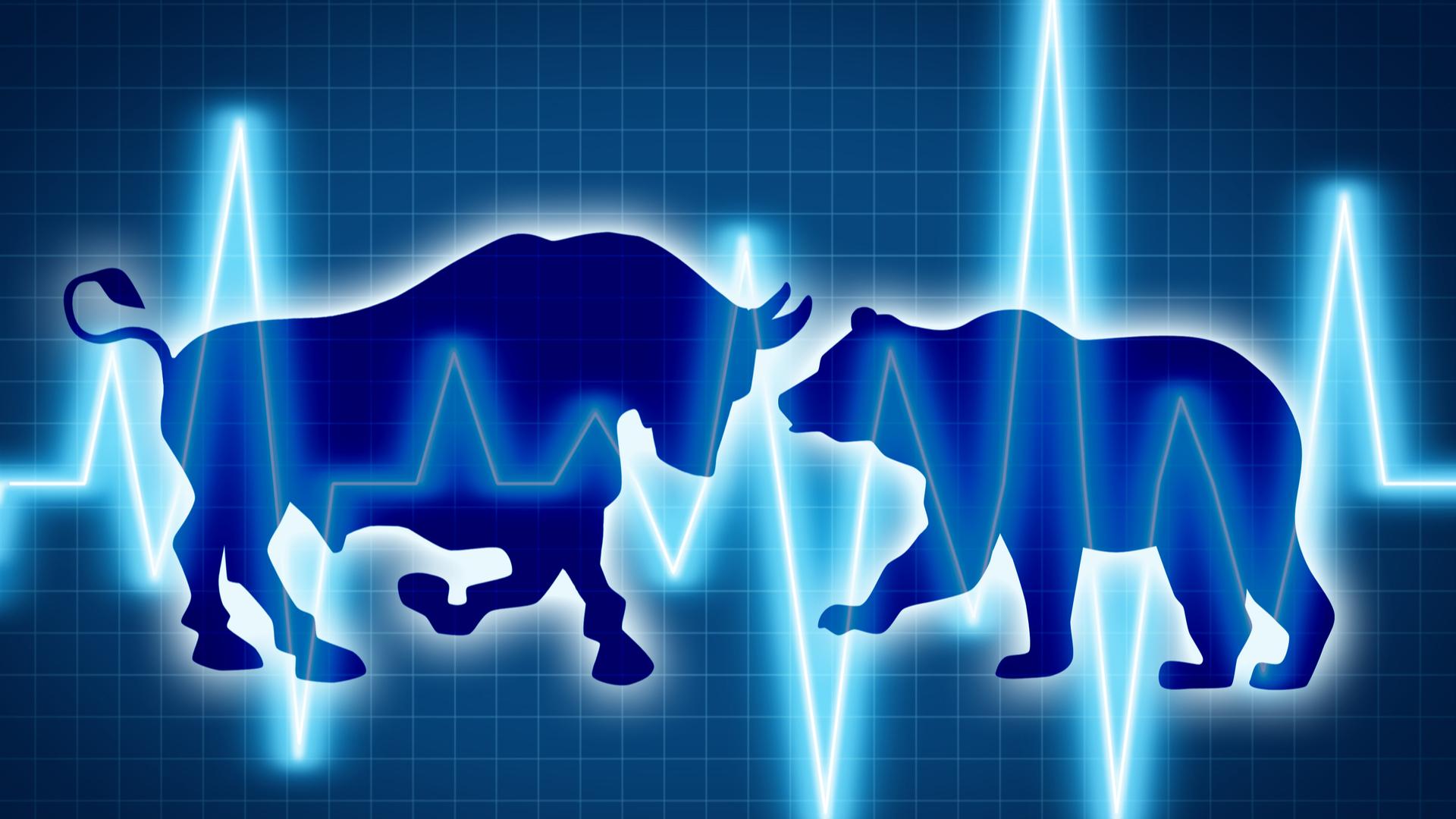 Touro e urso simbolizam os comprados e vendidos nos mercados
