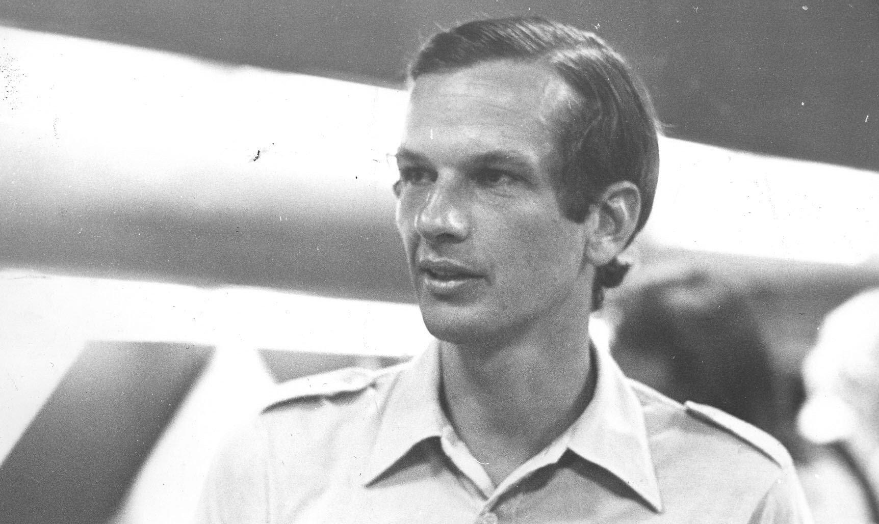 Rio de Janeiro, 19/03/1973. Retrato do tenista brasileiro Jorge Paulo Lemann durante apresentação da equipe para a Taça Davis