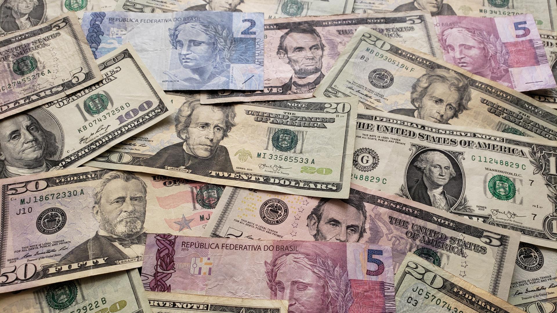 Dólar real câmbio