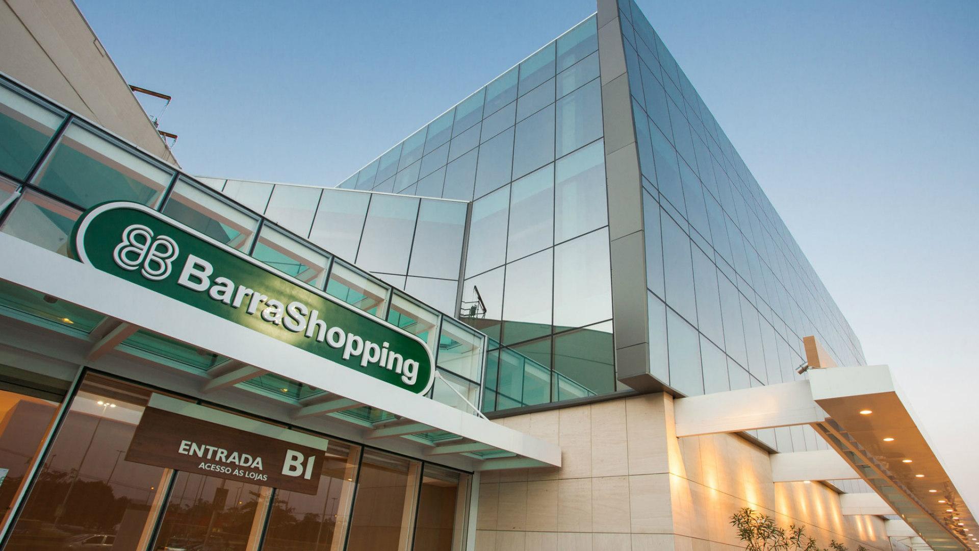Fachada do Barra Shopping, um dos shoppings da Multiplan
