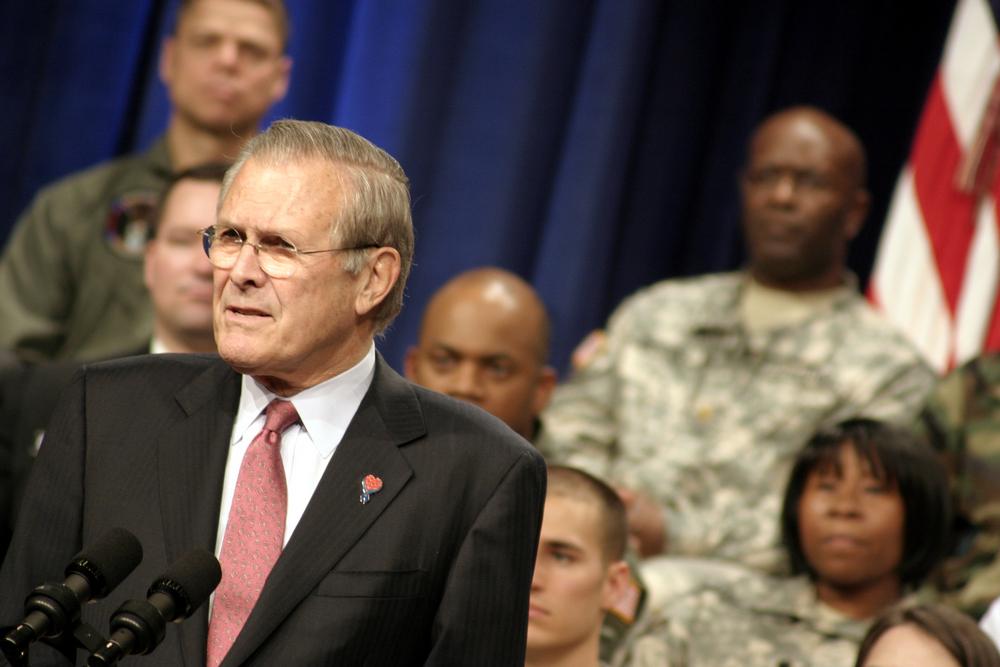 Donald Rumsfeld, ex-secretário de defesa dos Estados Unidos