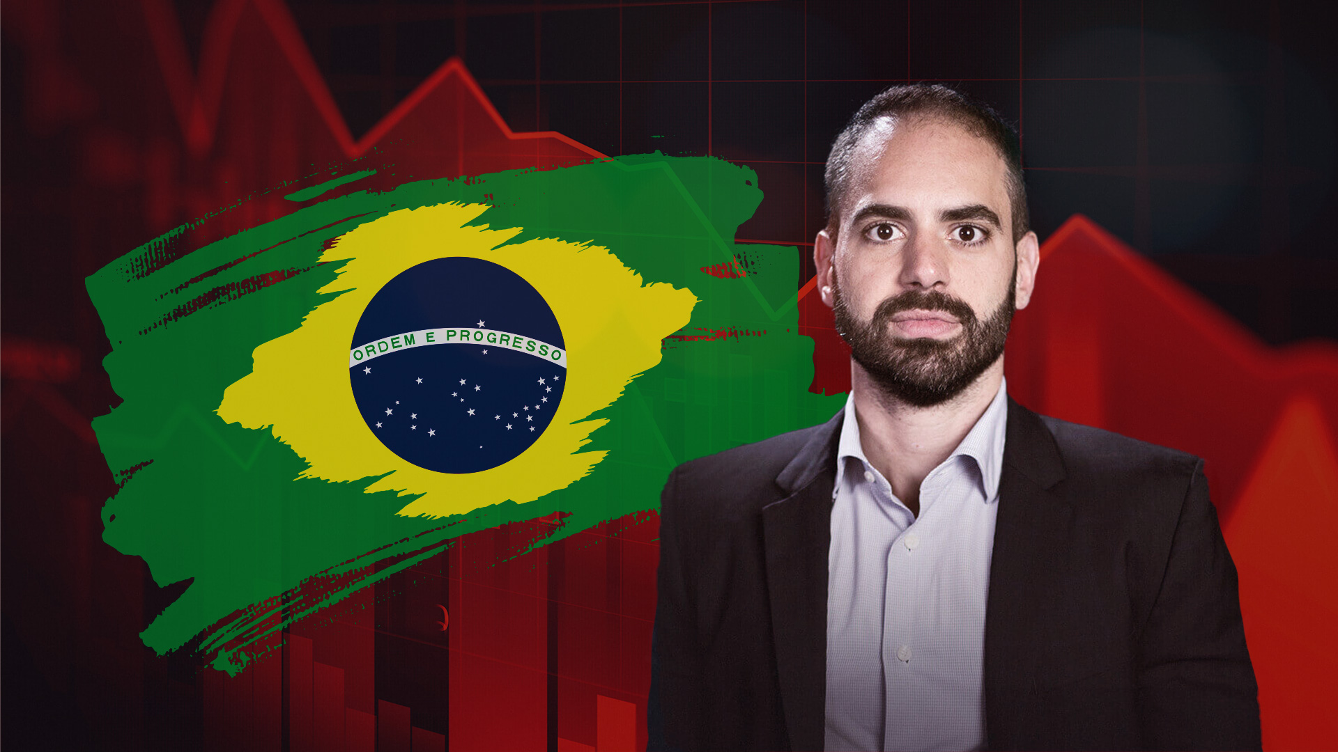 Felipe Miranda Bandeira Brasil Gráfico Baixa