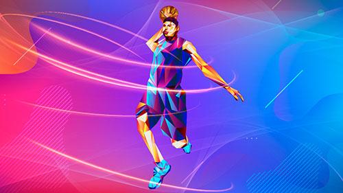 ilustração de jogador de basquete segurando bola para lançar