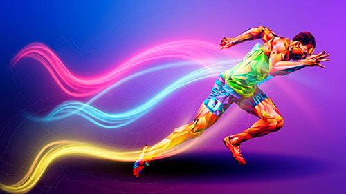ilustração de pessoa correndo