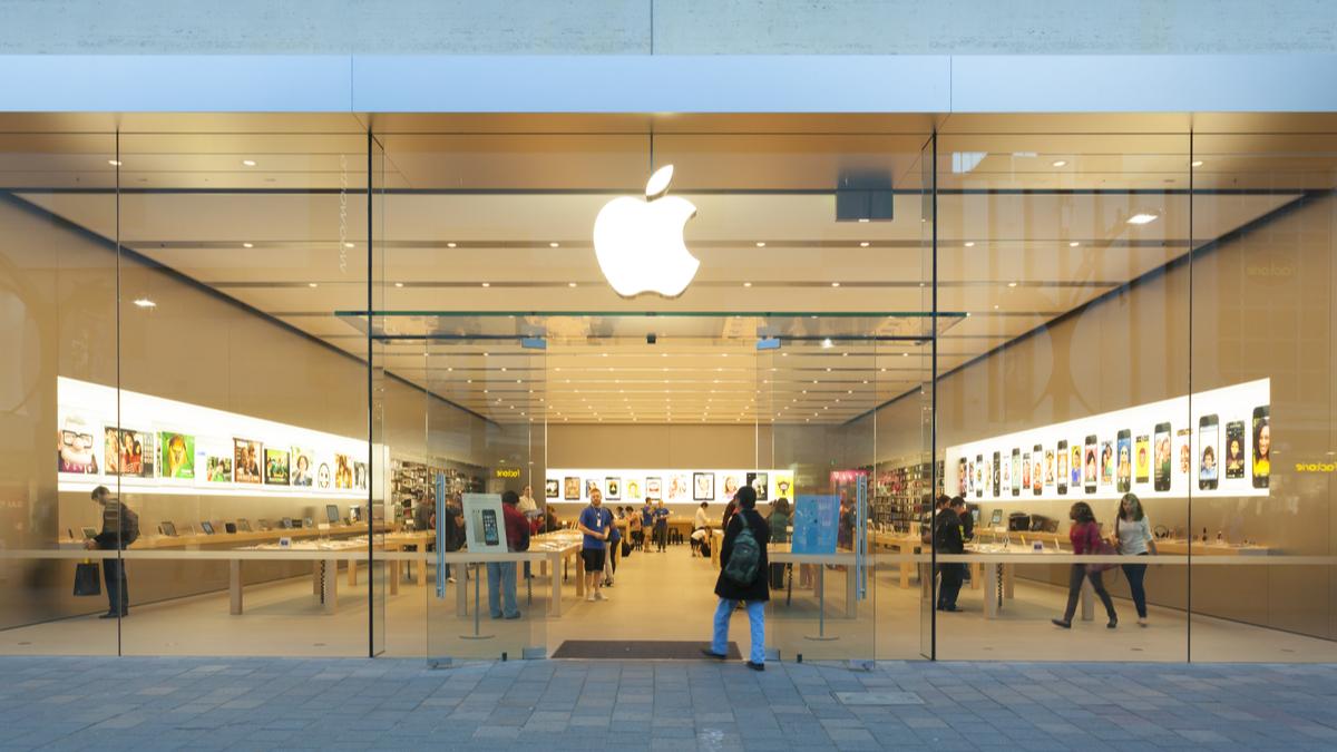 Fachada de loja da Apple