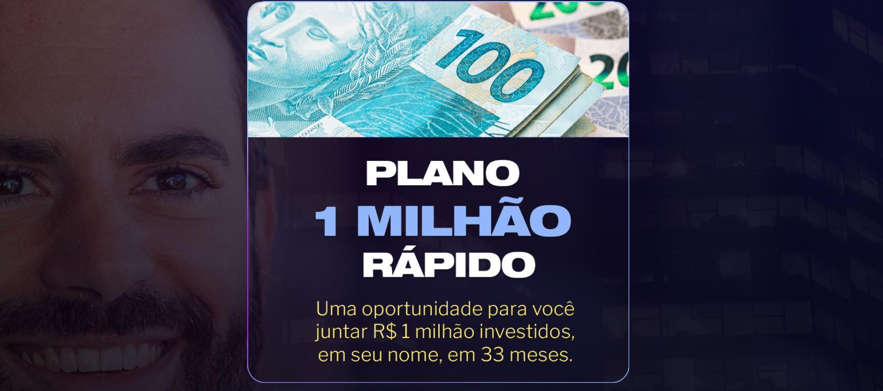 Campanha de marketing digital da Empiricus anuncia plano para juntar R$ 1 milhão investidos em um prazo de 33 meses.